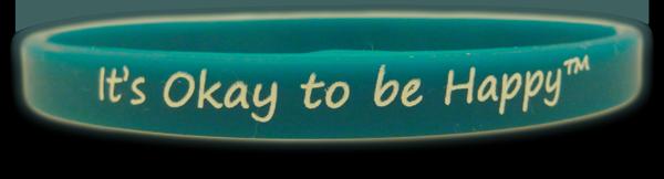 It's Okay to be Happy™ Teal Mini Wristband